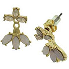 Target Metal Bar Post Earrings with Stone - Pink/Gold