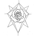 A Shine To It Temporary Tattoo Geometric Rose Hand Drawn