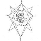A Shine To It Temporary Tattoo Geometric Rose Hand Drawn