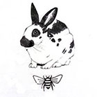 TheCatkinBoutique Rabbit temporary tattoo