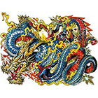 NovuInk Chinese Dragon Waterproof Temporary Tattoo Transfer (Original Hand Painted Art Design)