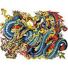 NovuInk Chinese Dragon Waterproof Temporary Tattoo Transfer (Original Hand Painted Art Design)