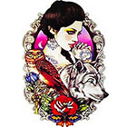 NovuInk She Wolf Waterproof Temporary Tattoo Transfer (Original Hand Painted Art Design)