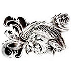NovuInk Japanese Koi Carp Waterproof Temporary Tattoo Transfer (Original Hand Painted Art Design)
