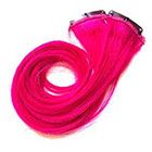 CandyAppleLocks Hot Pink, Magenta, Fuchsia Hair Extensions, Clip in Human Hair, Rainbow Dip Dye