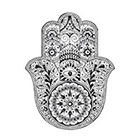 Stay At Home Gypsy Hamsa temporary tattoo
