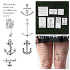 Tattify Anchored - Temporary Tattoo (Set of 14)