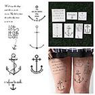 Tattify Anchored - Temporary Tattoo (Set of 14)