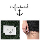 Tattify Sinking Feeling - Temporary Tattoo (Set of 2)