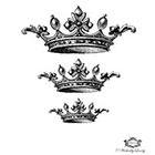 Wickedly Lovely Three Vintage crowns Wickedly Lovely skin art temporary tattoo