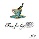 Wickedly Lovely Time for Tea, super cute vintage teacup and bird with tea quote WickedlyLovely SkinArt temporary tattoo.