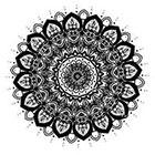 JoellesEmporium Mandala Temporary Tattoo, Ethnic Art, Mandala Art, Temporary Tattoo Set, Large Temporary Tattoo, Buddhism, Black, Geometric Art