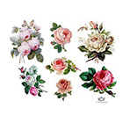 Wickedly Lovely Vintage Roses assorted pack of 7 Wickedly Lovely Skin Art Temporary Tattoos