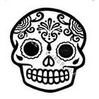 JoellesEmporium Sugar Skull Temporary Tattoo, Modern Art, Large Temporary Tattoo, Tattoo Temporary, Day Of The Dead, Mexico, Black & White, Minimalist Art