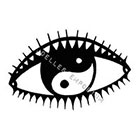 JoellesEmporium Evil Eye Temporary Tattoo, Modern Art, Yin Yang Temporary Tattoo, Temporary Tattoo Art, Minimalist Art, Body Art, Evil Eye Illustration