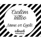 InknArt Custom Order name/ quote/ phrase/ initial temporary tattoo personalized gift - InknArt Temporary Tattoo - fake tattoo wedding tattoo in