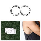 Tattify Infinity - What Goes Around - Temporary Tattoo (Set of 2)