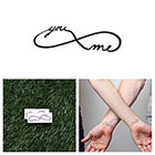 Tattify Infinity - You & Me - Temporary Tattoo (Set of 2)