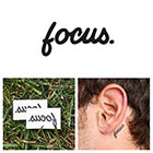 Tattify Quotes - Focus - Temporary Tattoo (Set of 2)