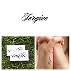 Tattify Quotes - Forgive - Temporary Tattoo (Set of 2)