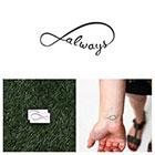 Tattify Infinity - Always - Temporary Tattoo (Set of 2)