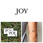 Tattify Quotes - Joy - Temporary Tattoo (Set of 2)
