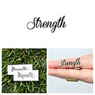 Tattify Quotes - Strength - Temporary Tattoo (Set of 2)