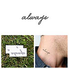 Tattify Quotes - Always - Temporary Tattoo (Set of 2)