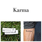 Tattify Quotes - Karma - Temporary Tattoo (Set of 2)