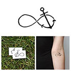 Tattify Infinity Anchor - Temporary Tattoo (Set of 2)
