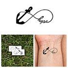 Tattify Infinity Anchor - Hope - Temporary Tattoo (Set of 2)