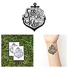 Tattify Anchor - Sink or Swim - Temporary Tattoo (Set of 2)