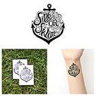Tattify Anchor - Sink or Swim - Temporary Tattoo (Set of 2)