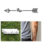 Tattify Arrow - Rise - Temporary Tattoo (Set of 2)