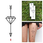 Tattify Diamond Arrow - Temporary Tattoo (Set of 2) in