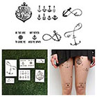 Tattify Tall Ships - Temporary Tattoo (Set of 12)