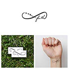 Tattify Infinity Faith Symbol - Temporary Tattoo (Set of 2)