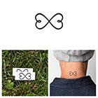 Tattify Infinity Heart - Temporary Tattoo (Set of 2)