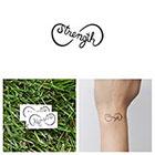 Tattify Infinity Strength Symbol - Temporary Tattoo (Set of 2)