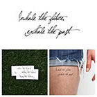 Tattify Inhale/ Exhale - Temporary Tattoo Quote (Set of 2)