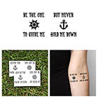 Tattify Anchor - Guide Me - Temporary Tattoo (Set of 2)