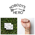 Tattify Arrow - Nobody's Hero - Temporary Tattoo (Set of 2)