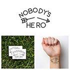 Tattify Arrow - Nobody's Hero - Temporary Tattoo (Set of 2)