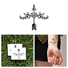 Tattify Fleur-de-Arrow - Temporary Tattoo (Set of 2)