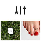 Tattify Travel Arrow - Temporary Tattoo (Set of 4)