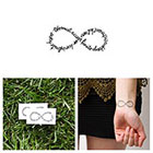 Tattify Infinity Symbol Quote - Temporary Tattoo (Set of 2) - Hope & Disappointment