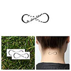 Tattify Infinity Believe Symbol - Temporary Tattoo (Set of 2)