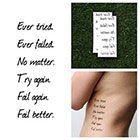 Tattify Spectacular - Temporary Tattoo Quote (Set of 2)