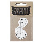 de Krantenkapper Anchor Temporary Tattoo middle size
