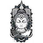 NovuInk Buddha Serenity Waterproof Temporary Tattoo Transfer (Original Hand Painted Art Design)